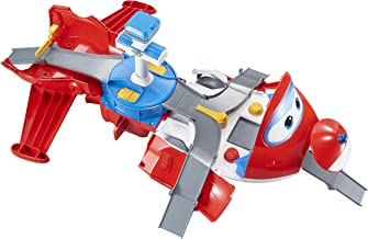Super Wings - Jett's Takeoff Tower 2-in-1 Toy Playset   Includes Figure   Pop 'n Transform Scale