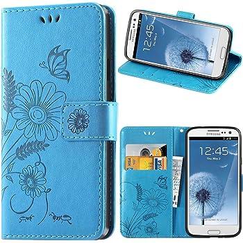 kazineer Cover Samsung S3, Cover Galaxy S3 Flip Caso in Pelle Portafoglio Custodia per Samsung Galaxy S3 / S3 Neo - Turchese Blu