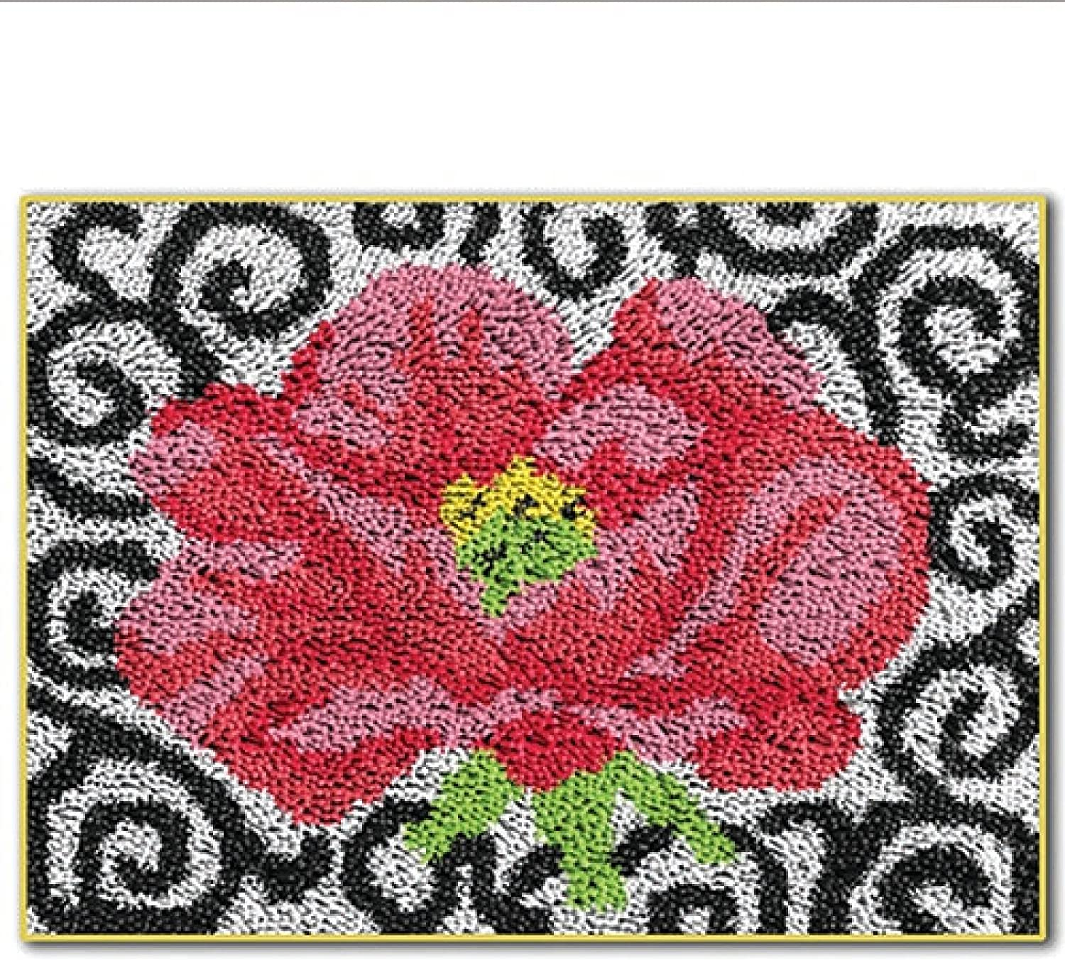 Latch Hook A surprise Raleigh Mall price is realized Rug Kits DIY Craft Embroidery Pattern Printed Carpet