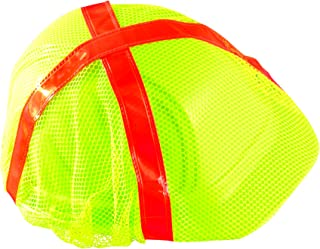 Occunomix V896-RY High Visibility Regular Brim Hard Hat Cover, Yellow