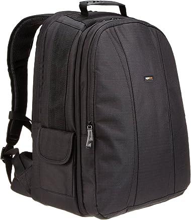 AmazonBasics DSLR and Laptop Backpack - Orange interior