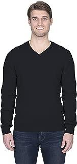 Men's Basic V-Neck Sweater Cashmere Merino Wool Blend Long Sleeve Pullover