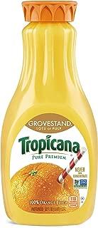 Tropicana Pure Premium Orange Juice, Grovestand, Lots of Pulp, 52 oz