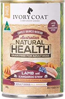 Ivory Coat Lamb & Kangaroo Stew Wet Dog Food, Adult and Senior, 400g x 12 tins