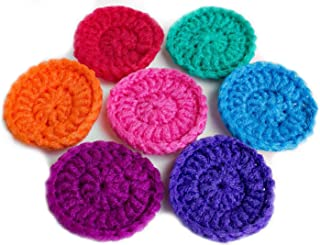 knitted dish scrubbies