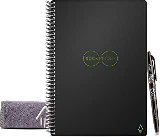 Rocketbook Everlast Smart - Cuaderno reutilizable, Negro, Esecutivo A5