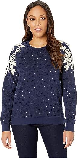 Polka Dot Chenille Sweatshirt