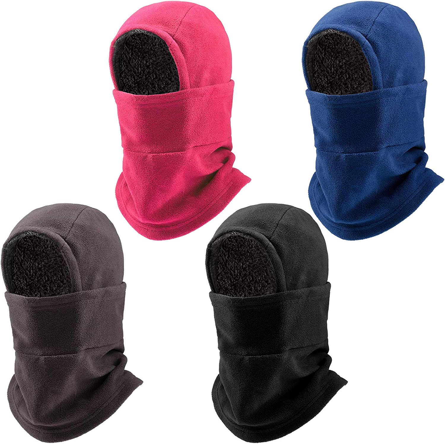 4 Pieces Fresno Mall Outlet SALE Winter Warm Adjustable Hooded Women Cover Face Men for