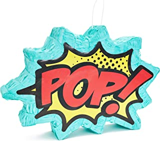 Juvale Small Comic Superhero Pinata, Kids Birthday Party Supplies, 17 x 11 x 3 Inches