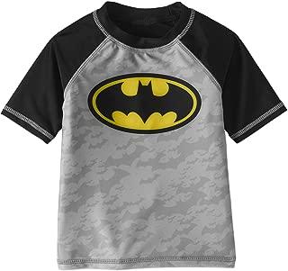 DC Batman Toddler Boys Rashguard Swim Top with UPF 50 Sun Protection
