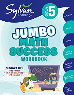 5th Grade Jumbo Math Success Workbook: 3 Books in 1--Basic Math, Math Games and Puzzles, Math in Action; Activities, Exerc...