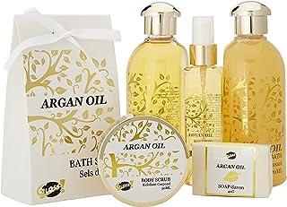 GLoss - Coffret De Bain Pour Femme - Pot de bain en métal incluant un spray corporel - Collection Luxury Argan Oil - Huile...