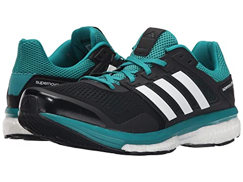 Best Place Mens Running Shoes - Adidas Supernova Glide 8 Black/White/EQT Green