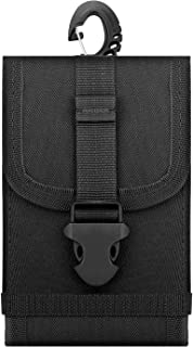 """MoKo Tactical Phone Holster, Universal Outdoor Waist Bag EDC Molle Pouch Belt Waist Bag Case Fit with 6.5"""" Phone, iPhone Xs Max/XR/Xs/X, Samsung Galaxy S10e/S10/S10 Plus/Note 9/S9 Plus - Black"""