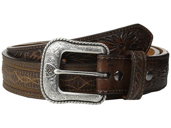 Ariat Barbwire Belt (Brown) Men