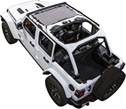 SPIDERWEBSHADE Jeep Wrangler JLKini Mesh Shade Top Sunshade UV Protection Accessory USA Made with 10 Year Warranty for Your JL 2-Door and JLU 4-Door (2018 - current) in Grey