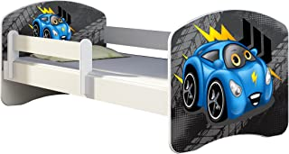 CHILDREN TODDLER KIDS BED FREE MATTRESS 140x70  04 Blue Car