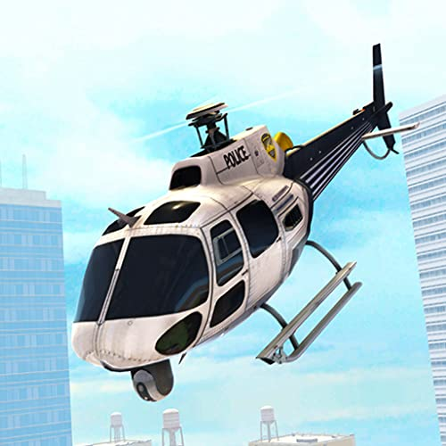 Stadtpolizei Hubschrauber im Dienst Rettungs Mission Survival Spiel: Transport Zivilisten im Flug Simulation Awesome Adventure Mission 2018