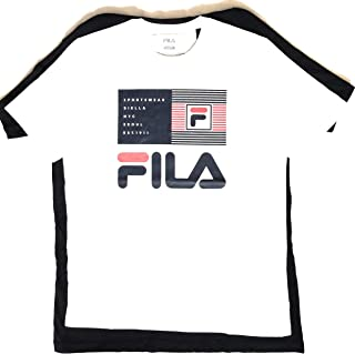 red white and blue graphic tee