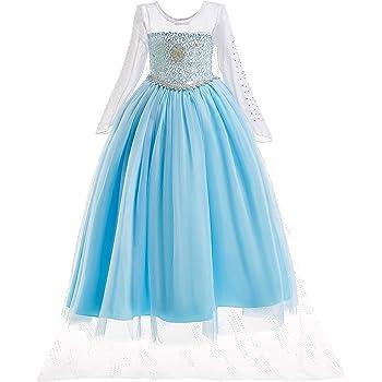 ELSA & ANNA® Princesa Disfraz Traje Parte Las Niñas Vestido (6-7 ...
