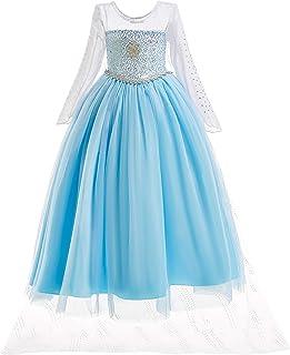 UK1stChoice-Zone Princesa Disfraz Traje Parte Las Niñas Vestido (Girls Princess Fancy Dress) FBA-IT-DRESS (5-6 Años, DRESS-204)