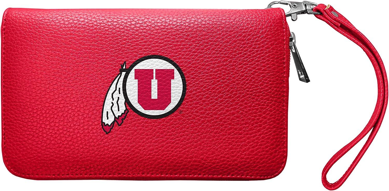 Littlearth Women's NCAA Soft Pebble Organizer Zip Closure Wallet-Wristlet