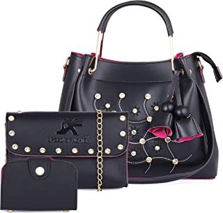 Speed X Fashion Women's Handbag With Clutch & Card Slot (Set of 3)
