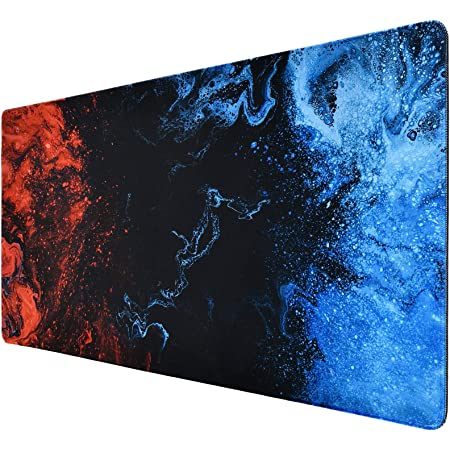 Tappetino Mouse Gaming, 800x400x3mm Tappetino Mouse XL, Blu Mouse Pad Gaming Tappetino per Mouse, Mousepad Tappetino Gaming Antiscivolo con Base in Gomma, Tappetino Scrivania per PC, Tappeto Mouse