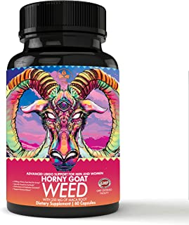 Horny Goat Weed Herbal Complex Extract for Men & Women: Performance Maca Root Tongkat Ali Powder – Testosterone Booster 10...