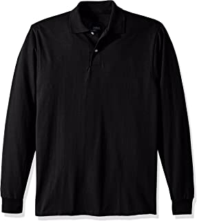 Men's Spot Shield Long Sleeve Polo Sport Shirt