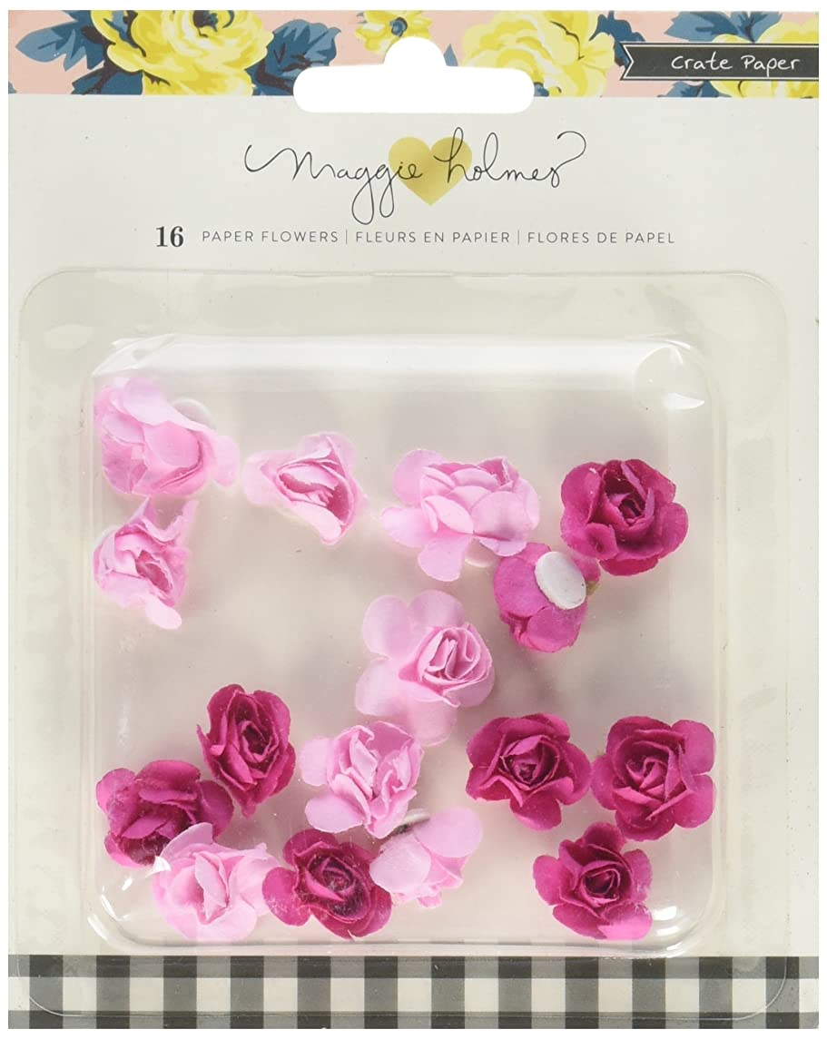 American Crafts 680446 Crate Paper Maggie Holmes Bloom Molded Paper Flowers