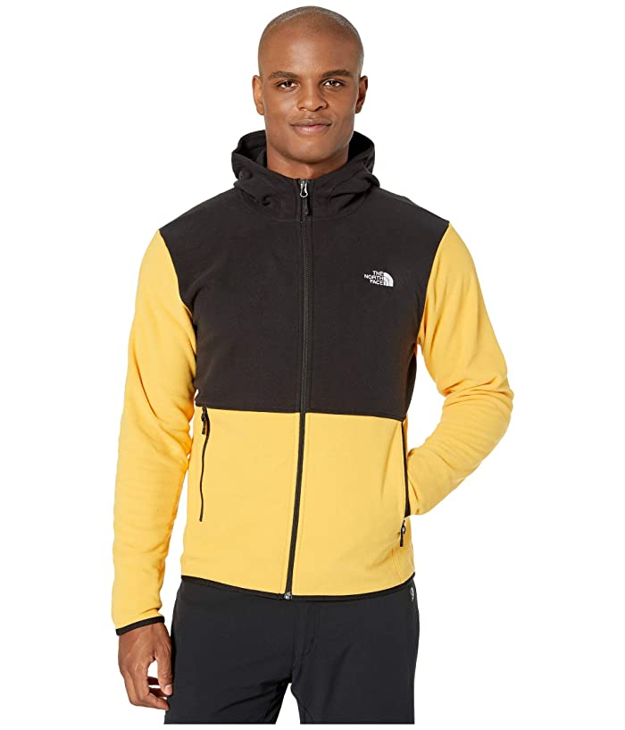 The North Face  TKA Glacier Full Zip Hoodie (TNF YellowithTNF Black) Mens Clothing