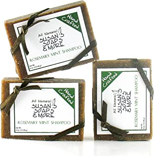 Sponsored Ad - Solid Shampoo Bars for Hair & Body, with Rosemary, Mint, Tea Tree essential oils, Natural Handmade 3 Bar Se...
