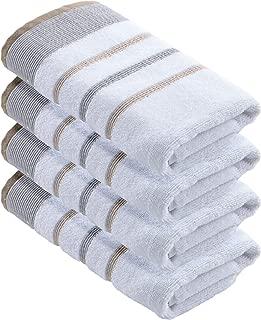 grey striped hand towel