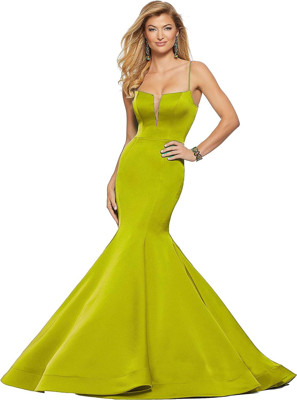 Aishanglina Sexy Mesh Backless LittleV Handmade Mermaid Prom Wedding Dress for Women