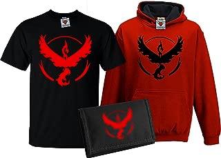 Kid's Deluxe Team Valor T-Shirt, Contrast Hoodie & Wallet Set