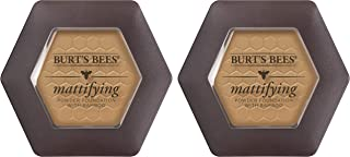 Burt's Bees 100% Natural Mattifying Powder Foundation, Almond - 0.3 Ounce (Pack of 2)