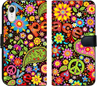 Luxlady iPhone XR Flip Fabric Wallet Case Image ID: 34004326 Wallpaper with Hippie Symbolic