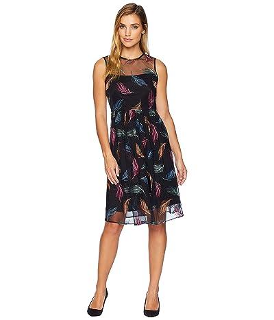 Calvin Klein Embroidered Tulle Dress CD8L24TA (Spicy Orange Multi) Women
