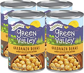 Green Valley Organics Garbanzo Beans | USDA Organic | Non-GMO Project Verified | Deliciously Nutty | 15.5 Ounce can (Pack ...
