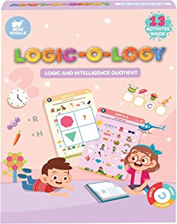 Miniwhale Logic-o-logy Toys For Kids 4 Years, Creative Fun Puzzles Wipe Clean Educational and Learning Activity Game For K...
