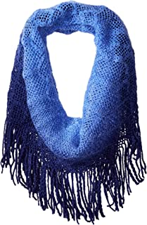 Women's Acrylic Ombre Infinity Scarf with Fringe