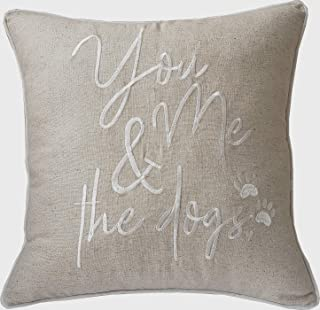 DecorHouzz Pillowcases Embroidered Pet Lover Pillow Covers Gifts for Dog Lover, Cat Lover, Pet Decor, 18
