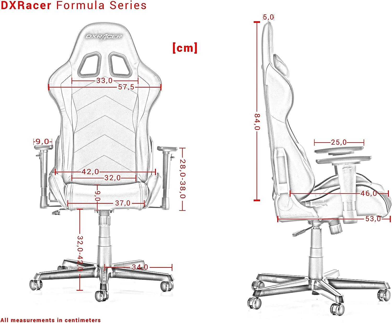 DXRacer (l'original) Formula F11 Chaise Gaming, Tissu, Noir & Rose, 145-180 cm Noir & Orange