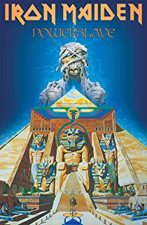 Iron Maiden Textile Flag Powerslave Album Cover Official Poster 65Cm X 105Cm
