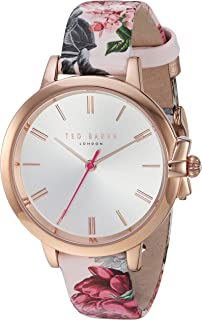 23328c11350 Ted Baker Women s RUTH Stainless Steel and Genuine Leather Analog Display  Quartz Casual Watch( Model