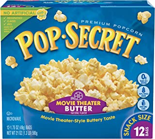 Pop Secret Popcorn, Snack Size Movie Theater Butter, 12 Count, 12 Ct