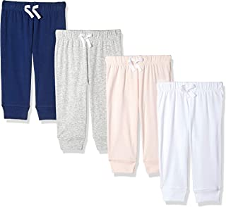 Amazon Essentials Girls' Baby 4-Pack Pull-on Pant