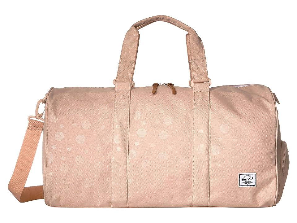 Herschel Supply Co. Novel Mid-Volume (Polka Cameo Rose) Duffel Bags, Pink