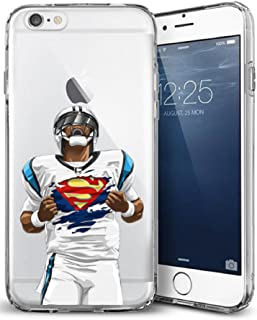Epic Cases iPhone 6 Case for Apple iPhone, Ultra Slim Transparent Dominate the Football Gridiron Series - Superman Cam, Clear Sports Case (iPhone 6)